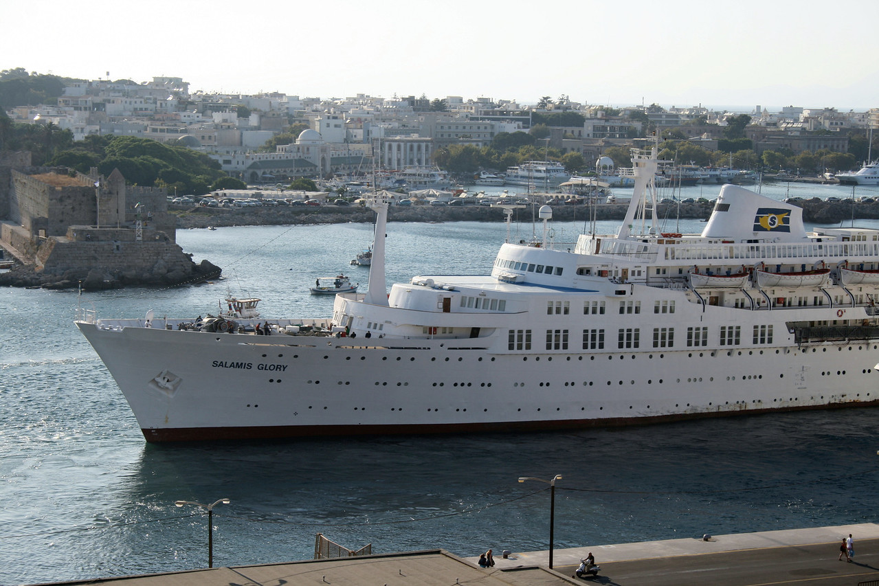 2009 - SALAMIS GLORY departing from Rodos.