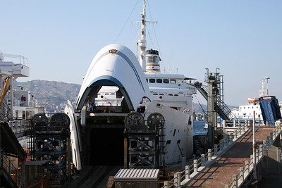 2009 - Trainferry SIBARI moored in Messina.