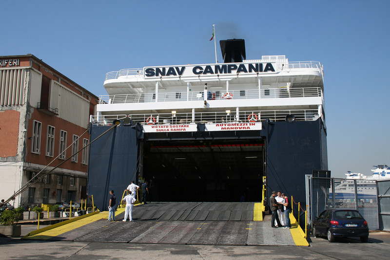F/B SNAV CAMPANIA in Napoli In regular service on Napoli - Palermo route.