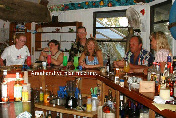 WE had numerous dive planning meetings. All fun, but none very productive.
