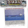 "Newspaper clipping from 6/6/06 showing our dive boat beached on a reef plus an assist boat and the police rescue boat that gave us a lift that afternoon. <a href=""http://scottg.typepad.com/scotts_pblog/2006/06/aruba_scuba_exc.html"" target=""_new"">Click here for the whole story.</a>"