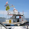 Jupiter, FL. A floating Hot Dog stand. Gotta' love it.