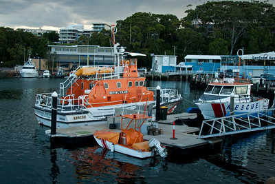 Volunteer Marine Rescue Vessels in Nelson Bay Marina