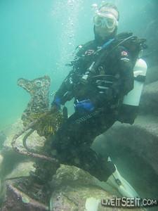 Flic riding a seahorse!