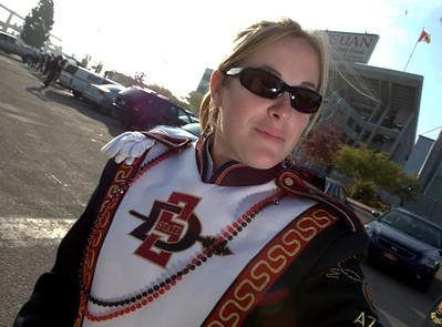 SDSU Marching Aztecs at Qualcomm Stadium.