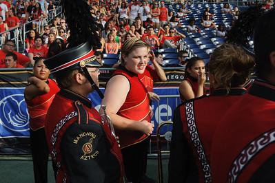 San Diego State University Marching Aztecs Drumline and Dance Team