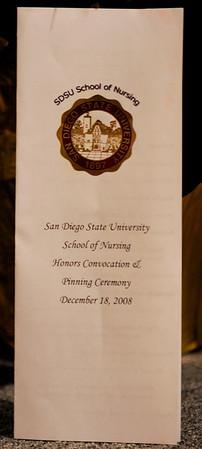 SDSU Nursing Class of Fall 2008 Pinning Ceremony