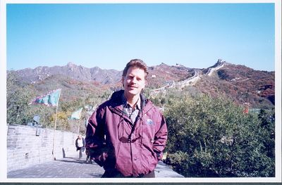 This was a memorable return to the Wall. Had stood on it many times before but not since 1988 (the first time in 1982). China has changed so much since then, even in a land of many thousands of years of history. It was good to get back. The day was brilliant sunshine and brisk, always a bit windy. It had snowed just days before. This was taken by buddy George Yuan.
