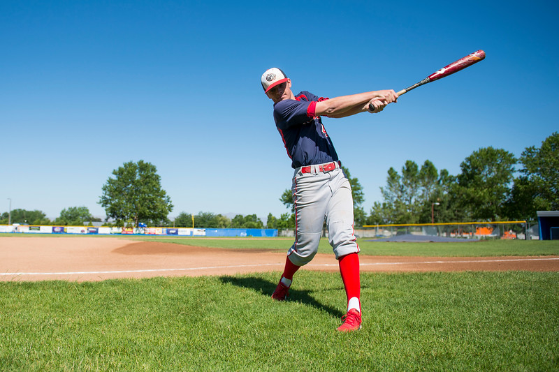 Alex Johnson, a recent graduate from Woods Cross High School, poses for a photo at the high school's baseball field on June 16, 2016 in Woods Cross. Johnson was recently named the MVP of the 2016 season and posted an astounding batting average of .628.