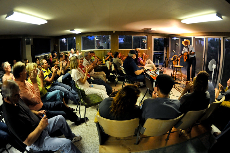 The crowd enjoys the Chuck Pyle concert at the Twitchell House Venue in Ogden on September 15, 2012. (LUCID IMAGES/Special to the Standard-Examiner)