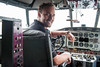 Cory Bengtzen, president of CB Aviation, poses for a photo in the cockpit of a Grumman Albatross Seaplane at the Ogden Airport in Ogden, on May 15, 2015. There are only nine of this particular aircraft in the world and two if them are stored here at the Ogden Airport.