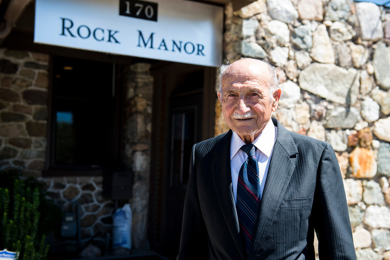George Fadel poses for a photo outside of his law offices in Bountiful on July 11, 2016. Fade has brought suit against Farmington City over a sign that was on his property for over 50 years and was destroyed by Farmington in 2015.