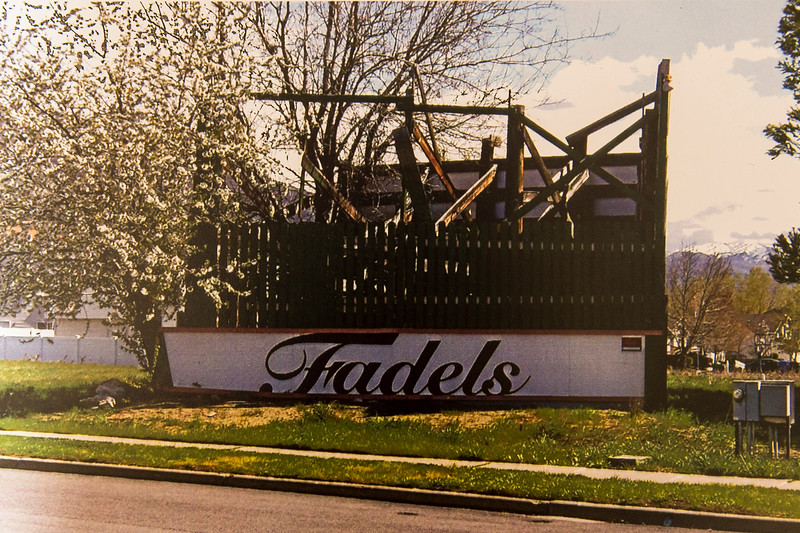 A photo provided by George Fadel shows the Fadels sign as it appeared in Spring 2014 and was subsequently destroyed by Farmington City in April of 2015; photo taken on July 11, 2016 in Bountiful.