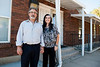 Kristen Mitchell and Scott Catuccio pose for a photo outside of what will be Utah's first homeless shelter specifically for youth. The shelter will be able to accommodate 15 youth ages 12-17 when it is completed. Photo taken in Ogden on October 2, 2014.
