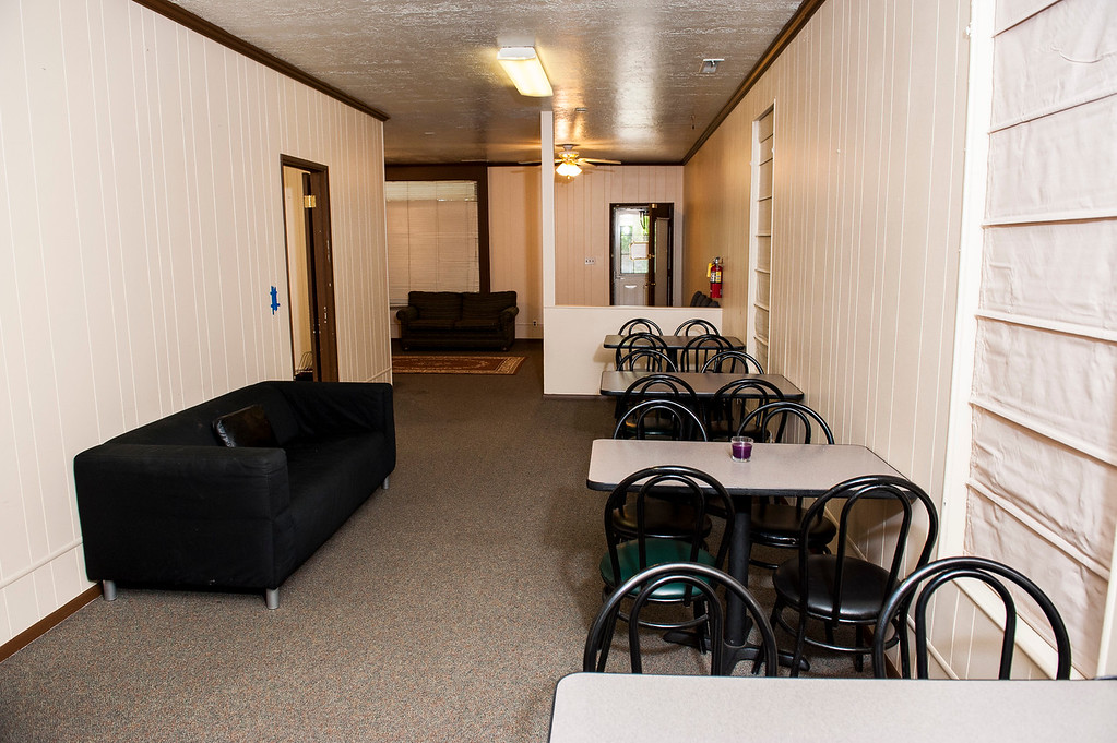 Pictured is the dining area of what will be Utah's first homeless shelter specifically for youth. The shelter is being organized, renovated, and staffed by Kristen Mitchell and Scott Catuccio and will have an open house in two weeks to raise community awareness. Photo taken in Ogden on October 2, 2014.