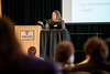 """Radia Perlman, who some refer to as the """"Mother of the Internet,"""" speaks to the public about her career path in the technology sector and advice to encourage creativity and collaboration in their own jobs during a presentation at Weber State University on February 26, 2015."""