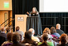 """Radia Perlman, author of """"Interconnections,"""" which many consider an influential text on networking, speaks to the public about her career path in the technology sector and advice to encourage creativity and collaboration in their own jobs during a presentation at Weber State University on February 26, 2015."""