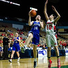 Lunenburg's Sierra Heppler in action during the D3 state semifinal on Monday, March 13, 2017. Lunenburg would fall to Hoosac Valley 71-41. SENTINEL & ENTERPRISE / Ashley Green