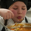 Marianna Umpierrez of Longsjo MIddle School tries  her Stew at the 2017 Future Chefs Competition at  Fitchburg High School. SENTINEL&ENTERPRISE/ Jim Marabello