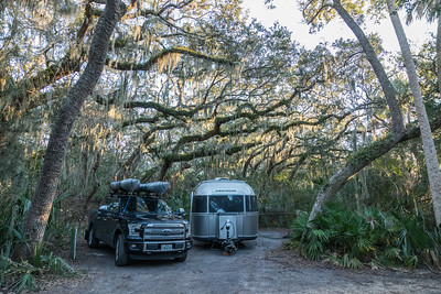 Campsite #40, Little Talbot Island State Park.  Florida