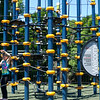 6/17/16 LEOMINSTER with story-- Madison Bouchard, 10, of Leominster climbs on one of the parks new attractions during Fridays grand re-opening of the Louis Charpentier Park in Leominster.   Sentinel & Enterprise photo/Jeff Porter