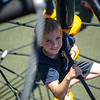 6/17/16 LEOMINSTER with story-- Jaeden Spinelli, 7, of Leominster climbs up one of the parks new attractions during Fridays grand re-opening of the Louis Charpentier Park in Leominster.   Sentinel & Enterprise photo/Jeff Porter