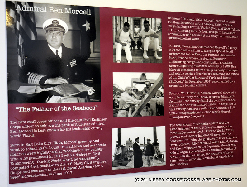 ADMIRAL BEN MOREELL, FATHER OF THE SEABEES