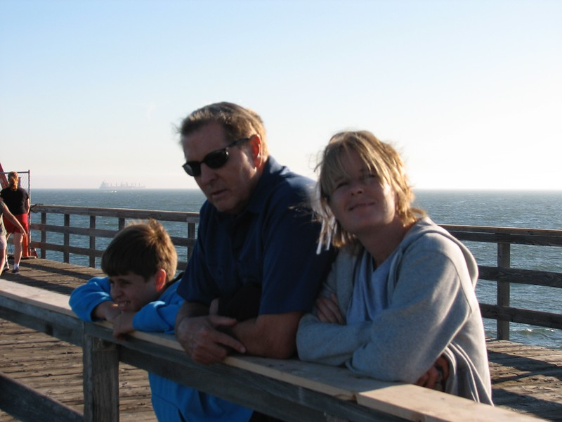 Walk down to Seal Beach with the family