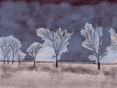 "Inspired by ""Indiana Skyline"" using Procreate app for iPad."