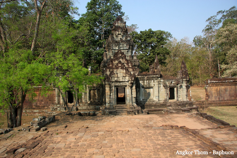 Paphuon Angkor Thom, a short distance from Angkor Wat Temple, was the last capital of the Khmer Empire, was a fortified cit enclosing residences of priest, officials of the palace and military, as well as buildings for administering the kingdom. Feb 200