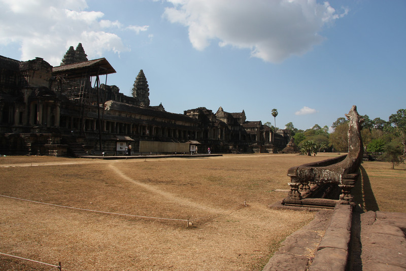 East side of Angkor Wat, never a crowd here.. great in the morning as well. Angkor wat, Cambodia, Feb 2009
