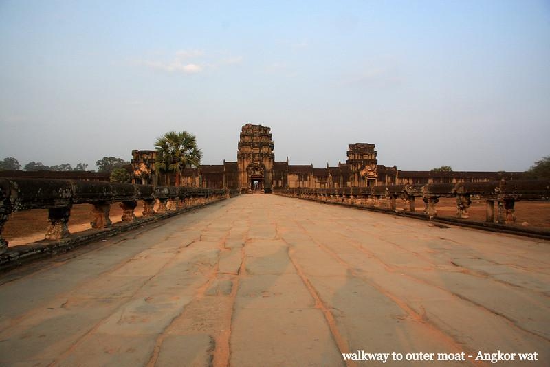 Sunset, Angkor wat, Cambodia, Feb 2009