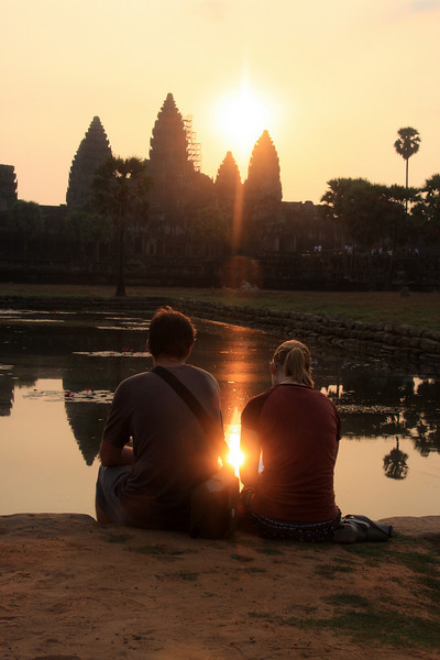 Sunrise, Angkor wat, Cambodia, Feb 2009