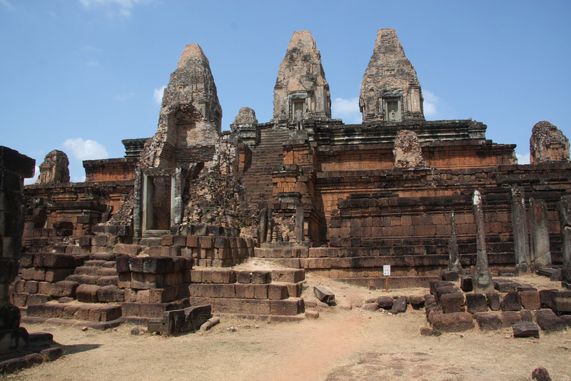 Pre Rup Temple, Located just south of the East Baray, or eastern reservoir and along the road to visit Banteay Srei Temple, Jan/Feb 2009
