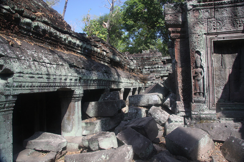 """Ta Prohm Temple, Likely best know for is use in the movie """"Tomb Raider"""" with Angela Joiie, it is equally recognized by the Strangler Figs which have done so much damaged with their massive roots. Feb 2009"""