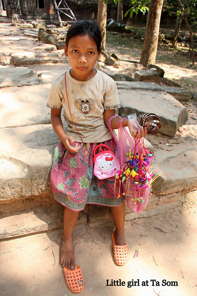 Little girl at Ta Som Temple, Angkor, Cambodia Feb 2009