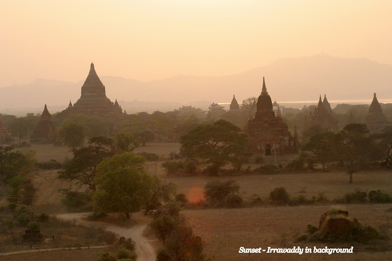 Bagan, Myanmar, so peaceful, wonderful after a visit to very busy Angkor Wat,  March 2009