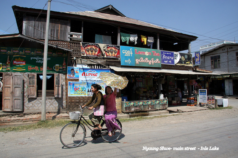 Nyaung Shwe Village, Inle Lake, Myanmar, a beautiful place you can easily spends weeks enjoying!  March 2009