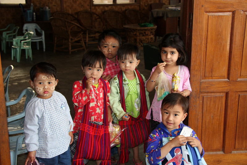 Kindergarden class,Nyaung Shwe Village, Inle Lake, Myanmar, a beautiful place you can easily spends weeks enjoying!  March 2009