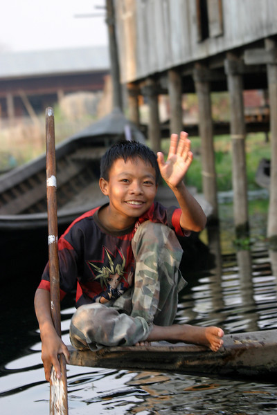 Inle Lake, Myanmar, a beautiful place you can easily spends weeks enjoying!  March 2009