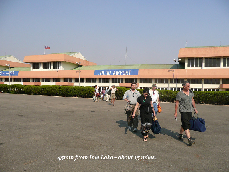 Mandalay was good fun,we flew from Heho Airport 15miles from Bagan, we were the only plane too at Mandalay's large Airport terminal ( Jan 2009)