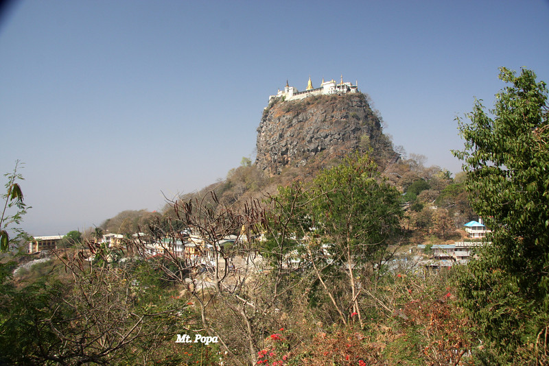 Mt. Popa, is a really interesting visit about 1-2 hrs from Bagan and well work it. A long walk tot he top but not to be missed. March 2009