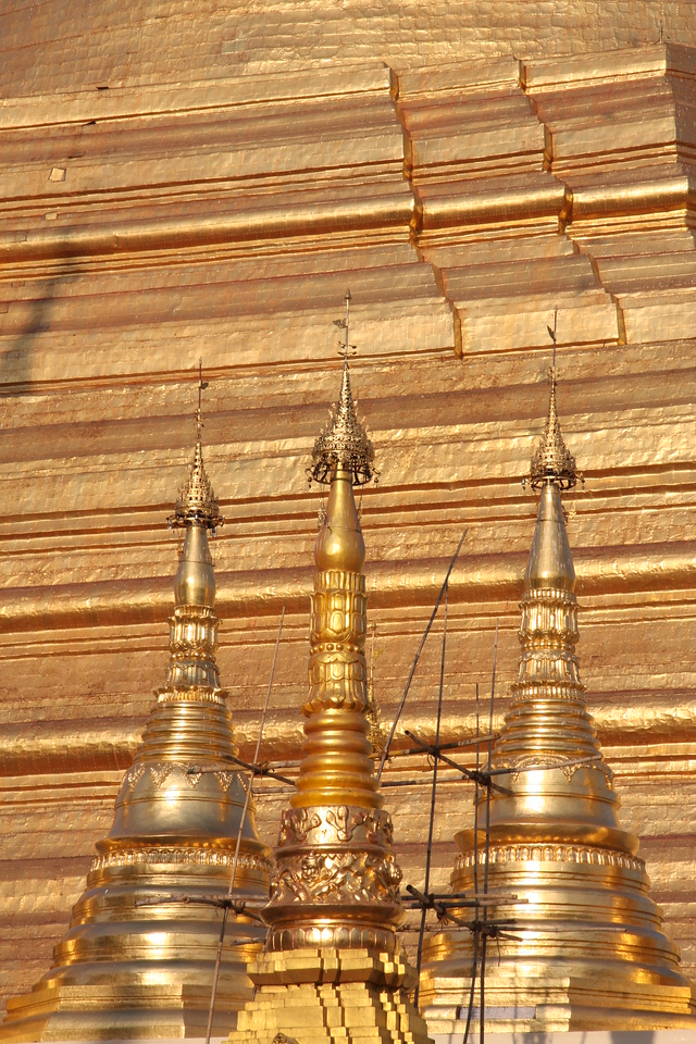 "The ""Golden"" Shwedagon Pagoda in Yangon, Myanmar,  March 2009 Yangon"