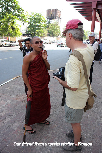 Our guide friend from the Shwedagon Pagoda, from weeks earlier. Myanmar,  March 2009 Yangon
