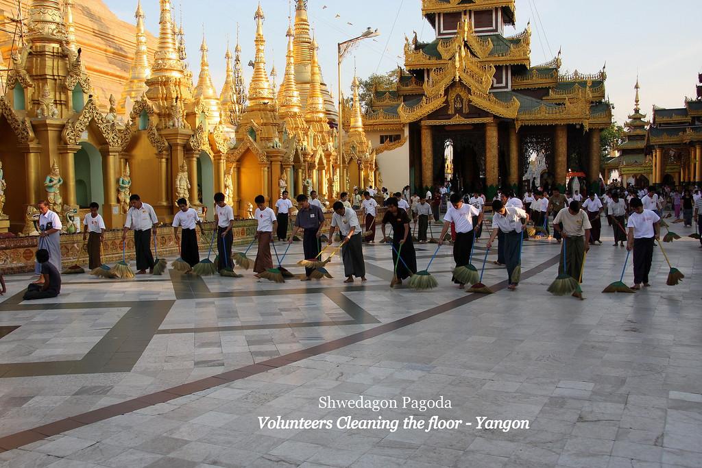 "The ""Golden"" Shwedagon Pagoda in Yangon, Myanmar,  March 2009 Yangon"