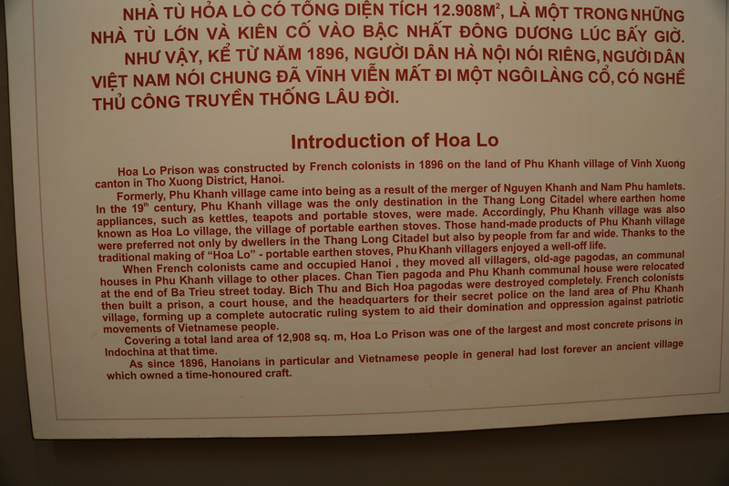 Hao Lo Prison info... Nov 2013