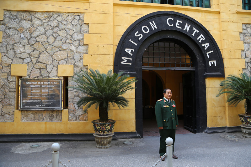 "Main entrance, HaNoi Hilton (Hao Lo) Prison ""Maison Central""... all so very pretty now! Nov 2013"