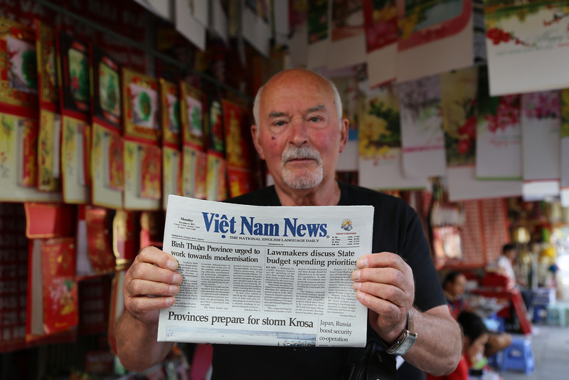 HaNoi. Pierre from France who had visited Dien Bien Phu area the previous day. Nov 2013