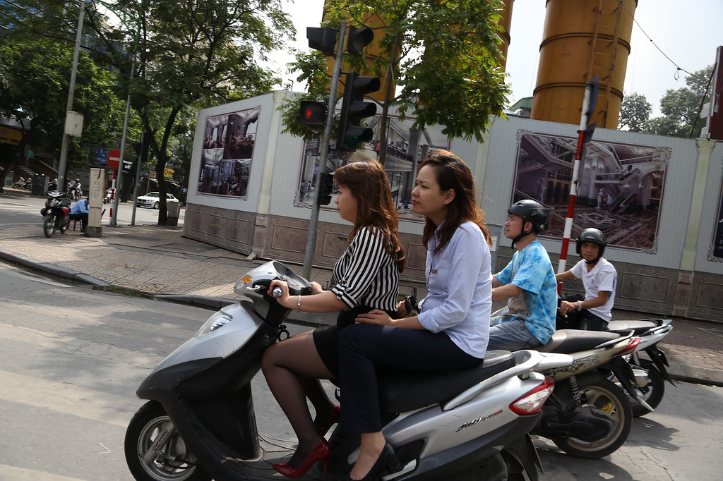 HaNoi motor scooter street scenes Nov 2013