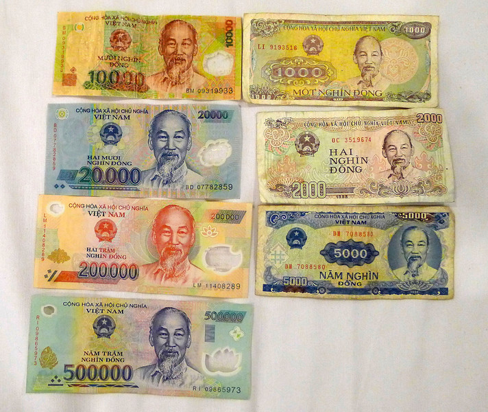 Vietnam Dong currency bills Nov 2013